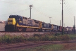CSX 5933 former NYSW B40-8 now in CSX paint heads south leading Q611 on the A&WP/WofA 